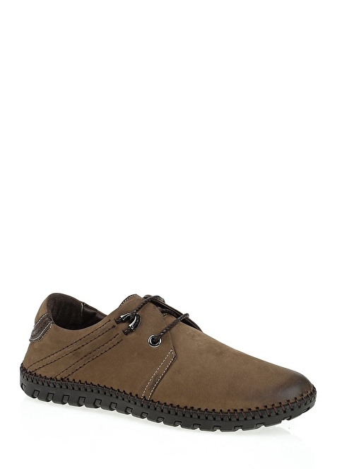Hammer Jack %100 Deri Bağcıklı Ayakkabı Vizon